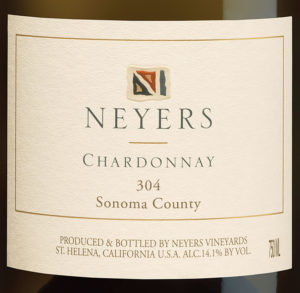 Our 2018 Chardonnay '304'