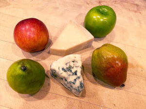 Fruit and cheese selection